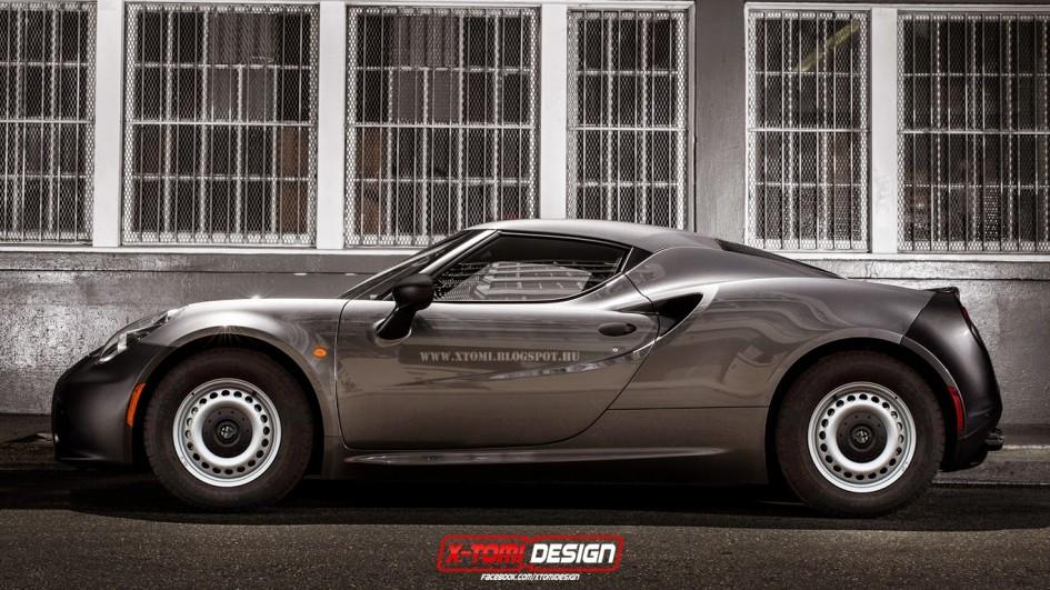 Alfa Romeo 4C - artwork by X-Tomi Design