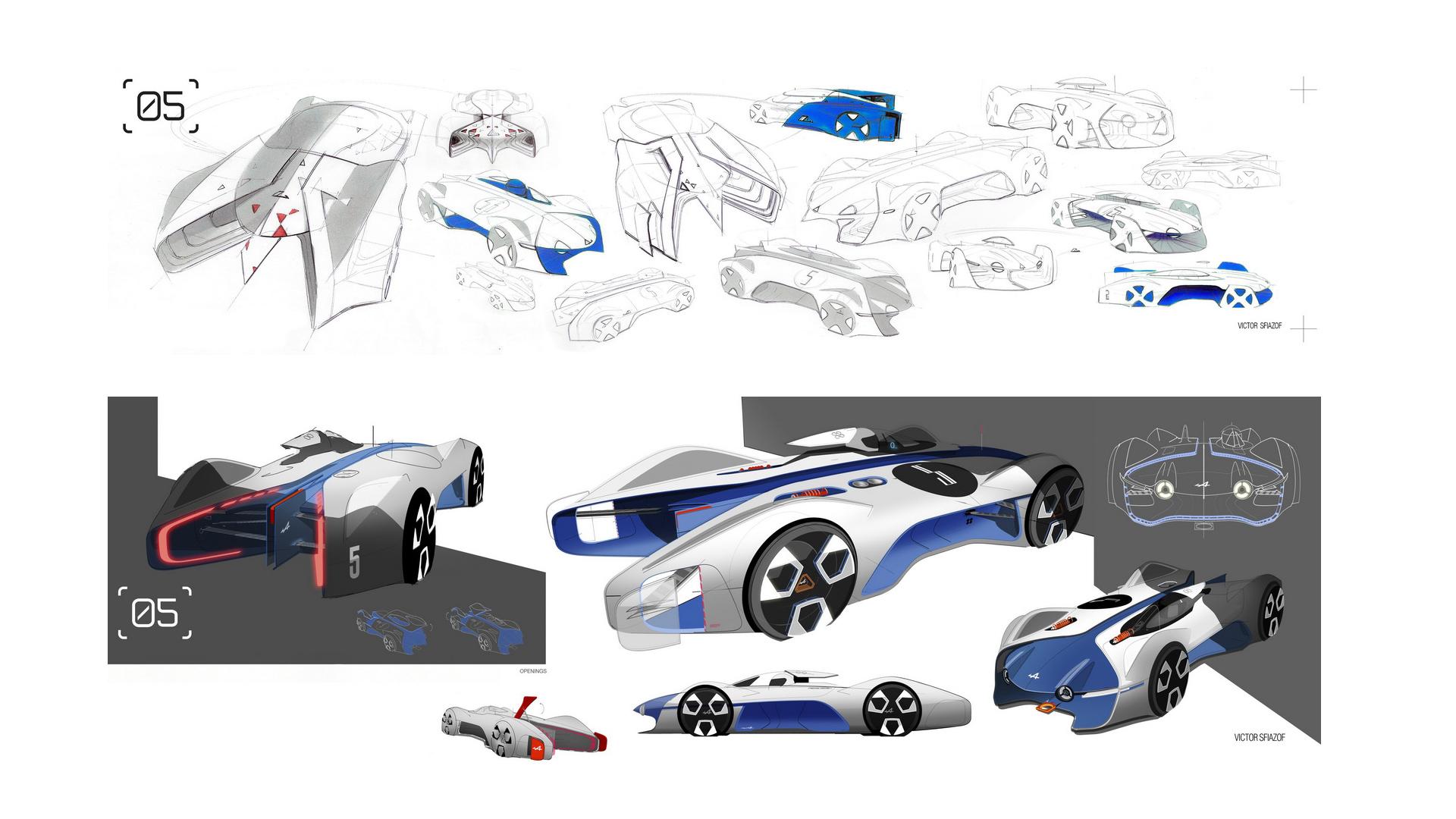 Alpine Vision GT - sketch