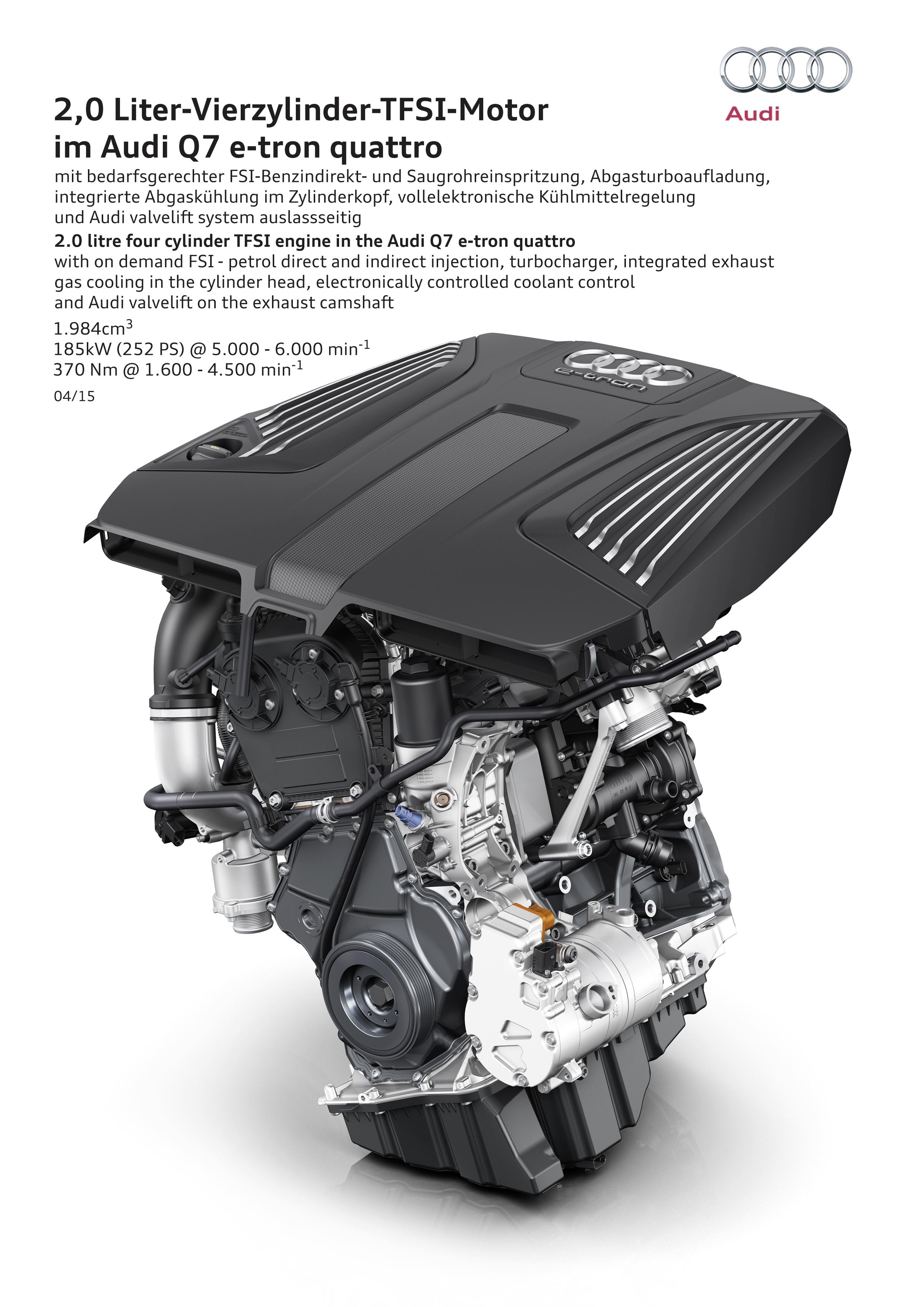Audi Q7 e-tron 2.0 TFSI quattro - 2015 - engine