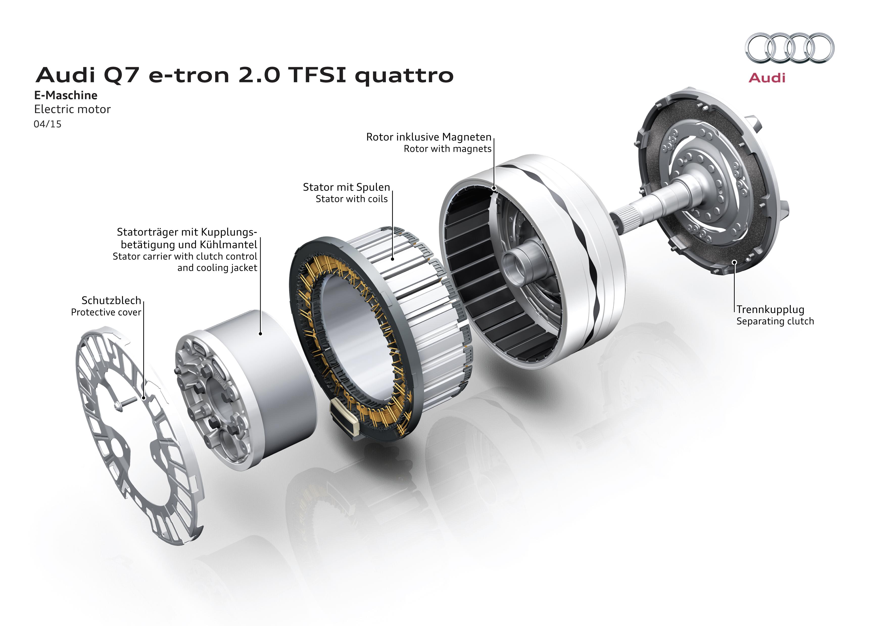 Audi Q7 e-tron 2.0 TFSI quattro - 2015 - electric motor