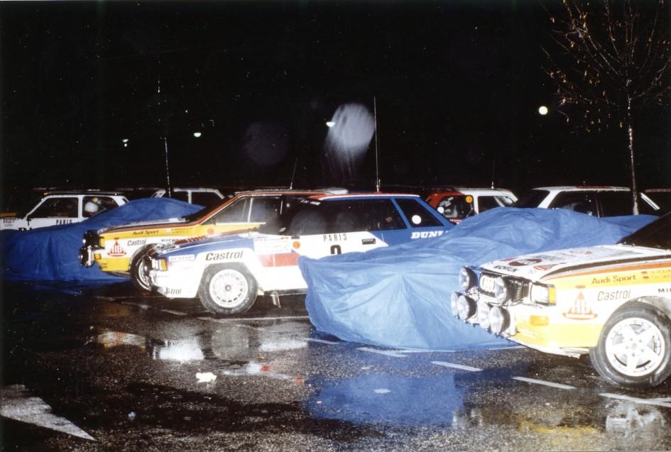 Audi Quattro - groupe B - Rohrl - Mikkola - 1984 - Aix-les-Bains - photo Thierry Le Bras