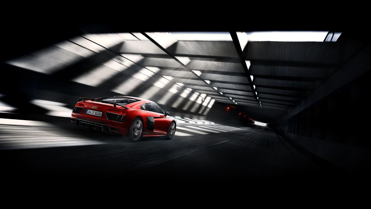 Audi R8 Coupé - profil arrière