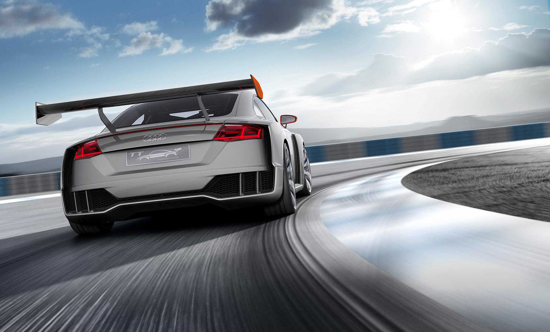 Audi TT clubsport turbo concept - rear wing / aileron arrière