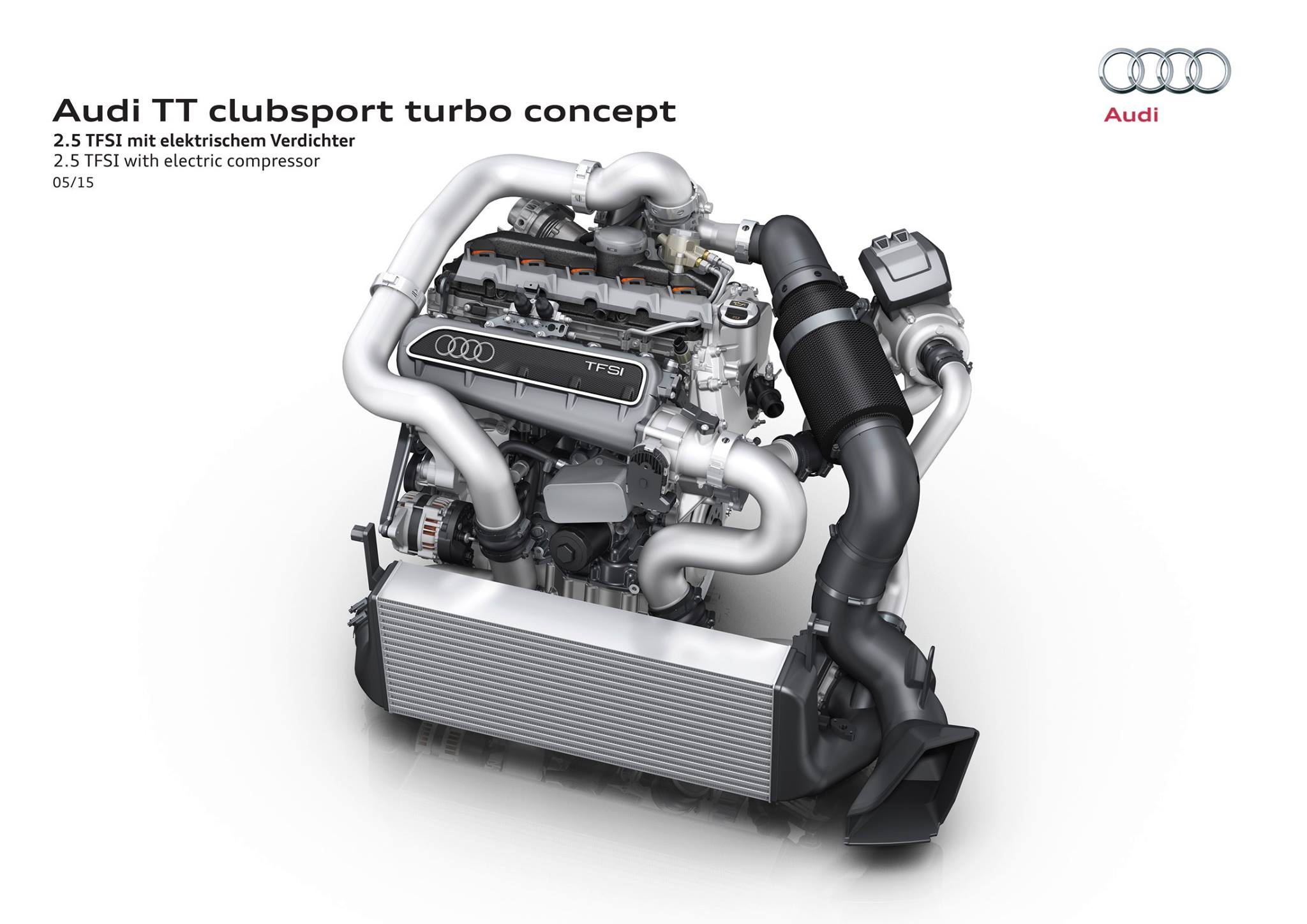 Audi TT clubsport turbo concept - engine / moteur