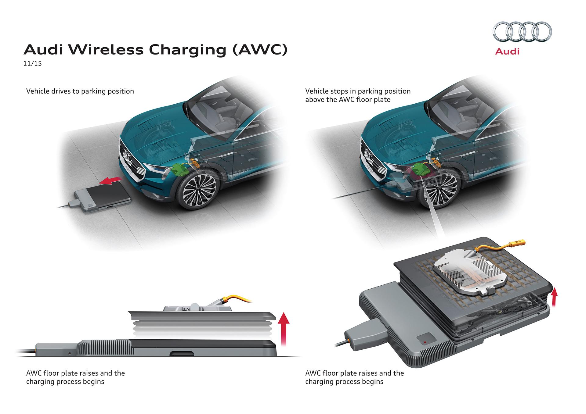 Audi e-tron quattro concept - 2016 - Audi Wireless Charging