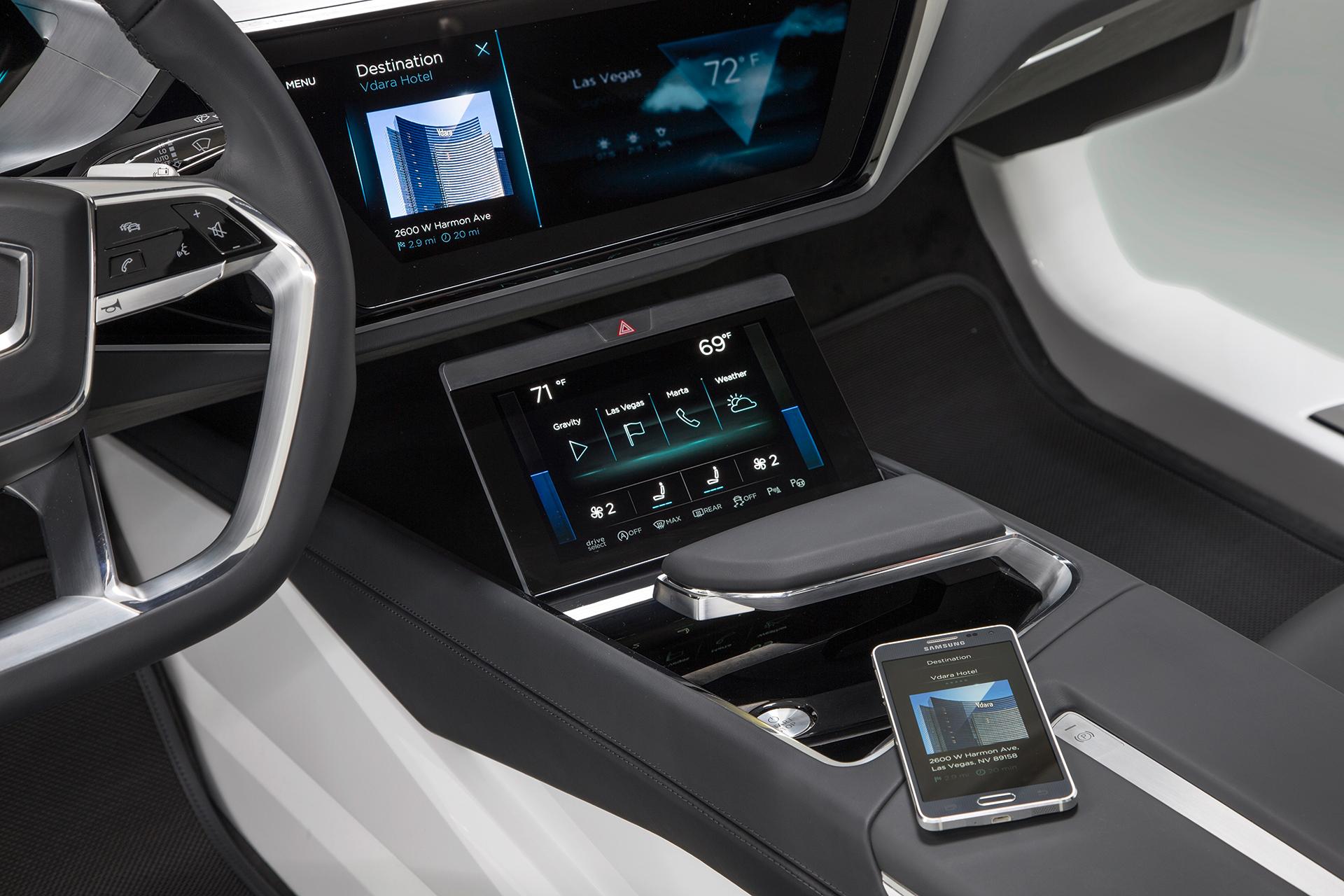 Audi e-tron quattro concept - 2016 - control console / console centrale