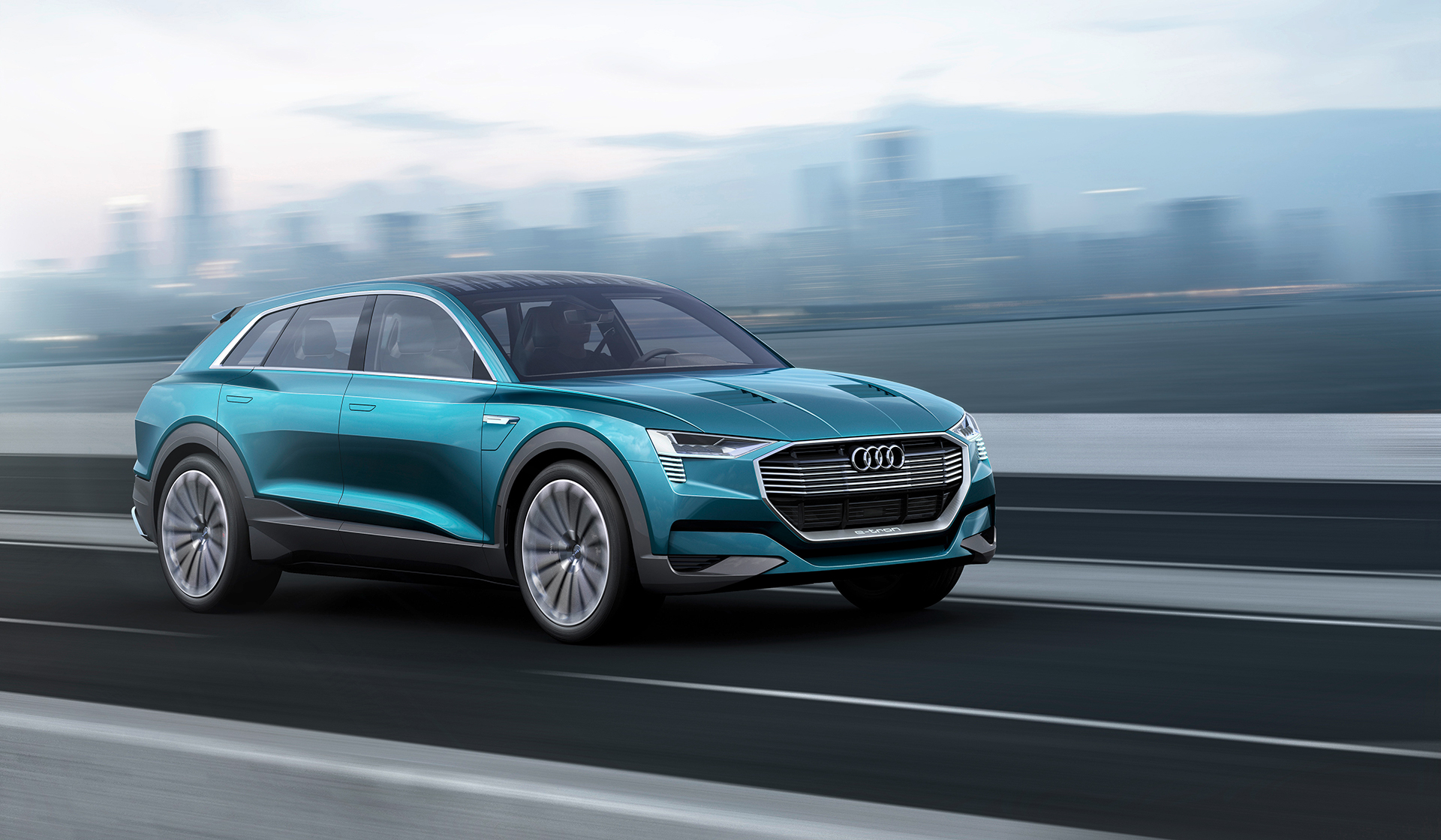 Audi e-tron quattro concept - 2016 - front side-face / profil avant - on road / sur route