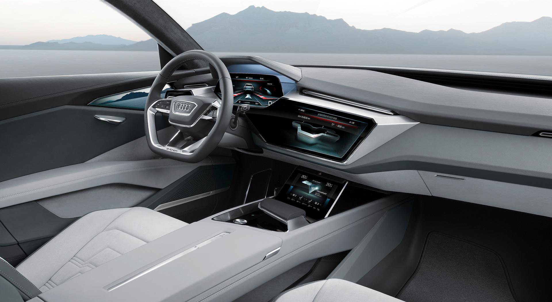 Audi e-tron quattro concept - 2016 - sketch - interior / intérieur