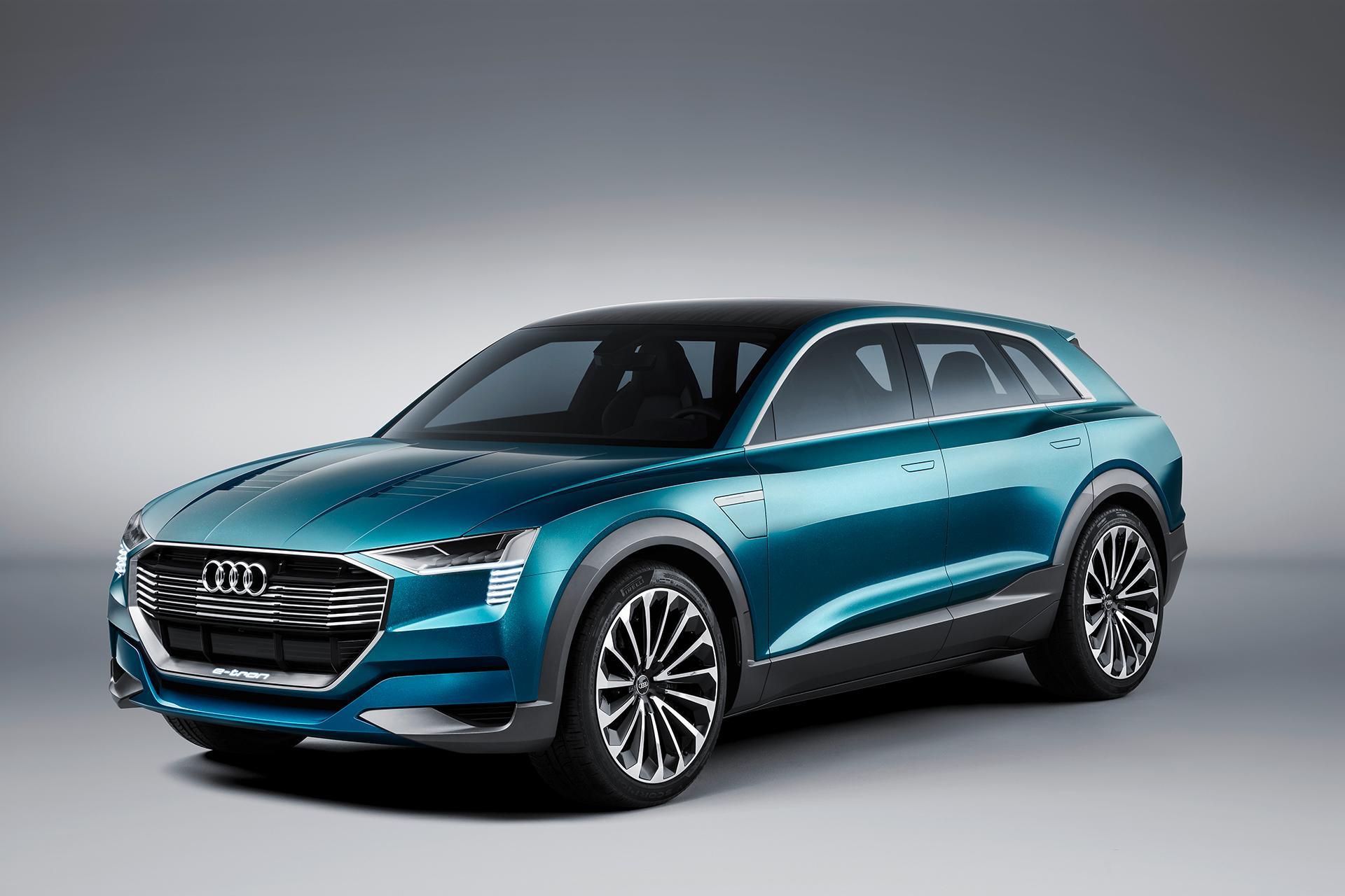 Audi e-tron quattro concept - 2016 - front side-face / profil avant