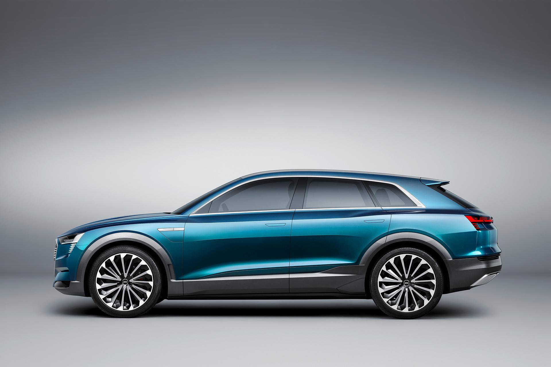 Audi e-tron quattro concept - 2016 - side-face / profil