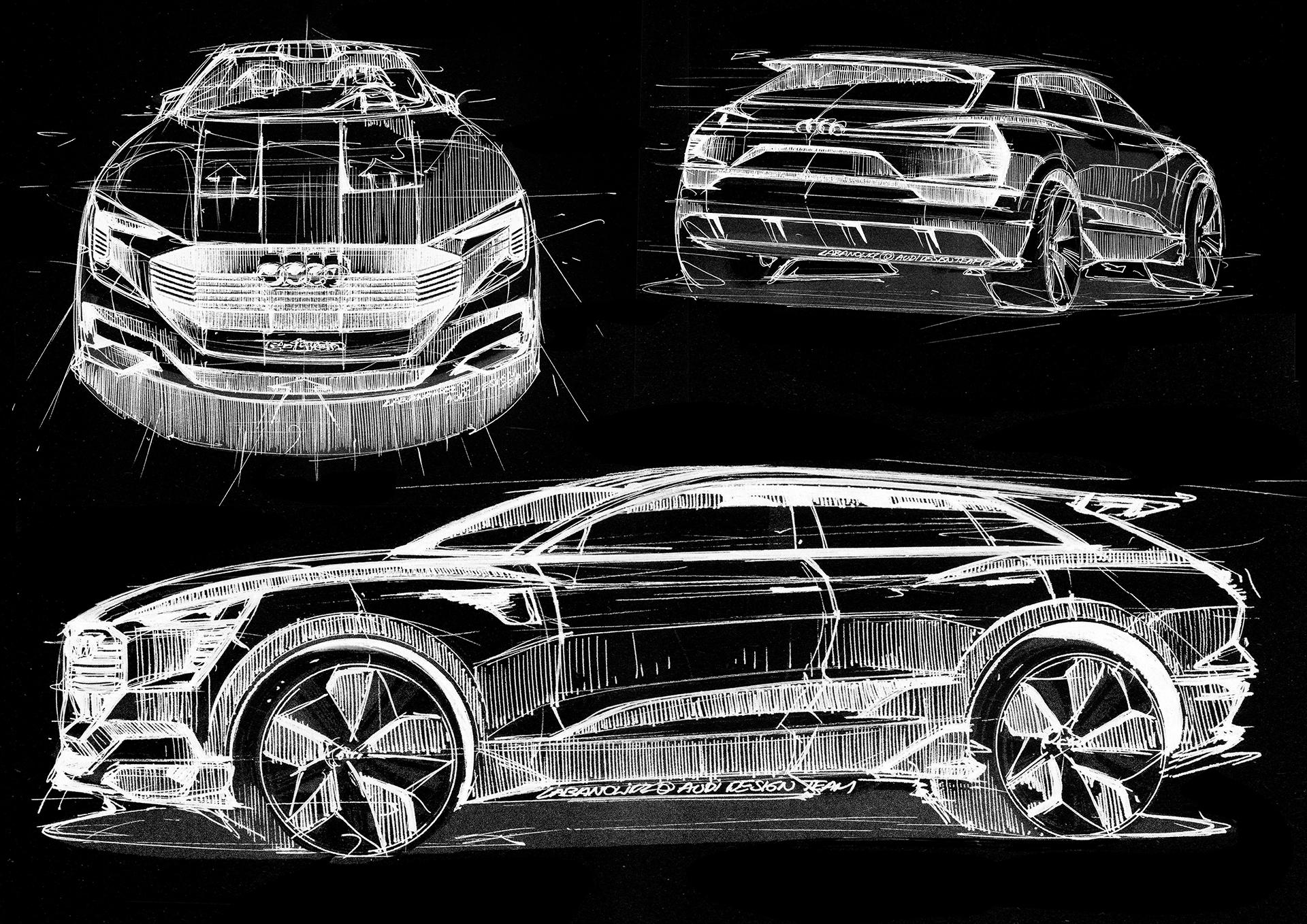 Audi e-tron quattro concept - 2016 - sketch