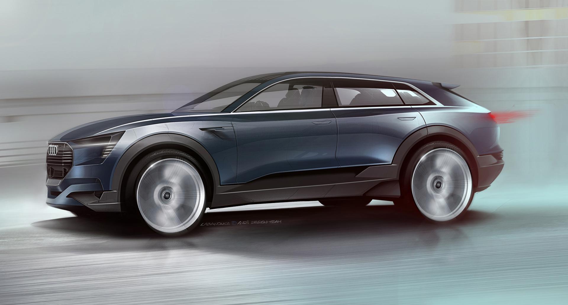 Audi e-tron quattro concept - 2016 - sketch design
