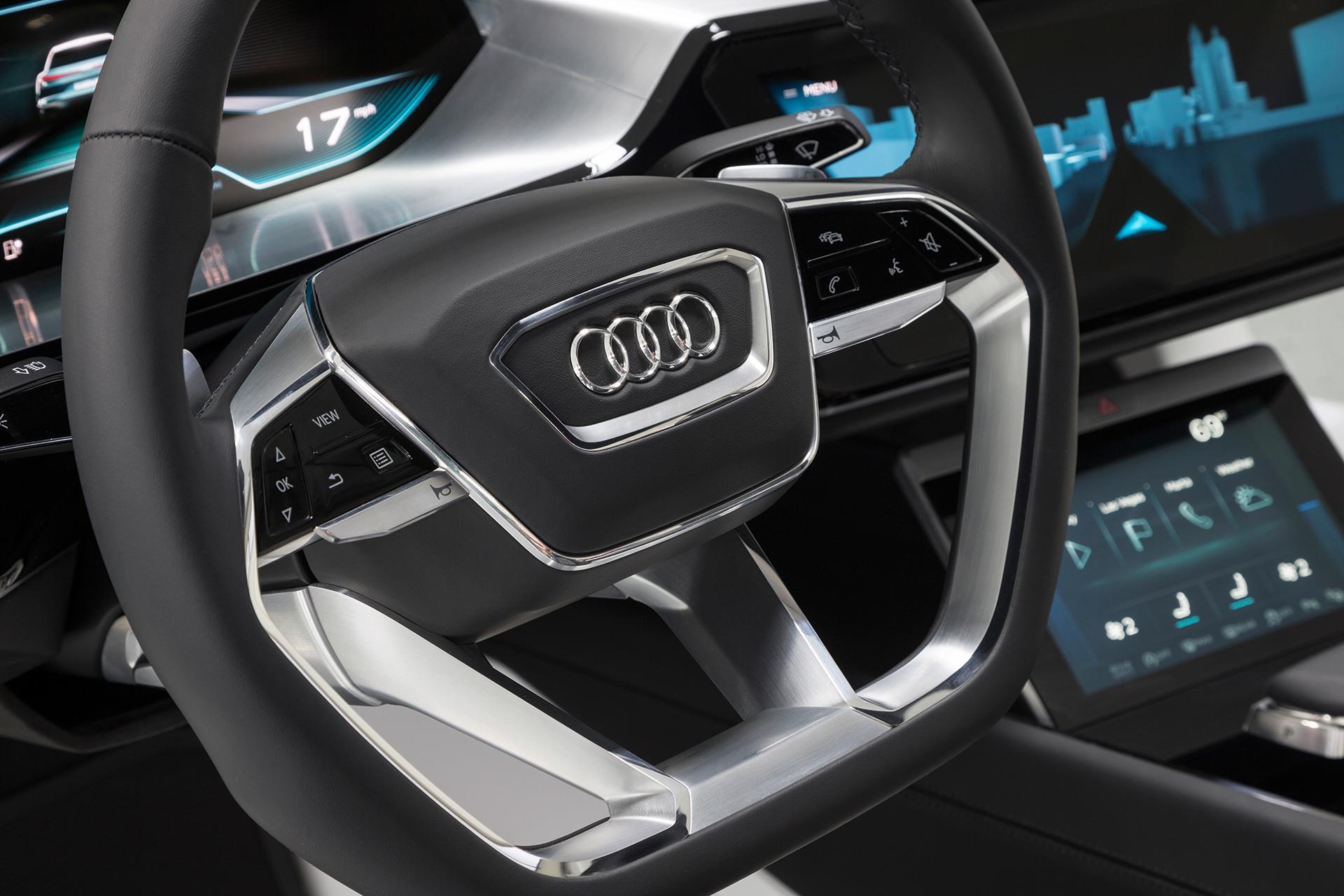 Audi e-tron quattro concept - CES 2016 - drive wheel / volant