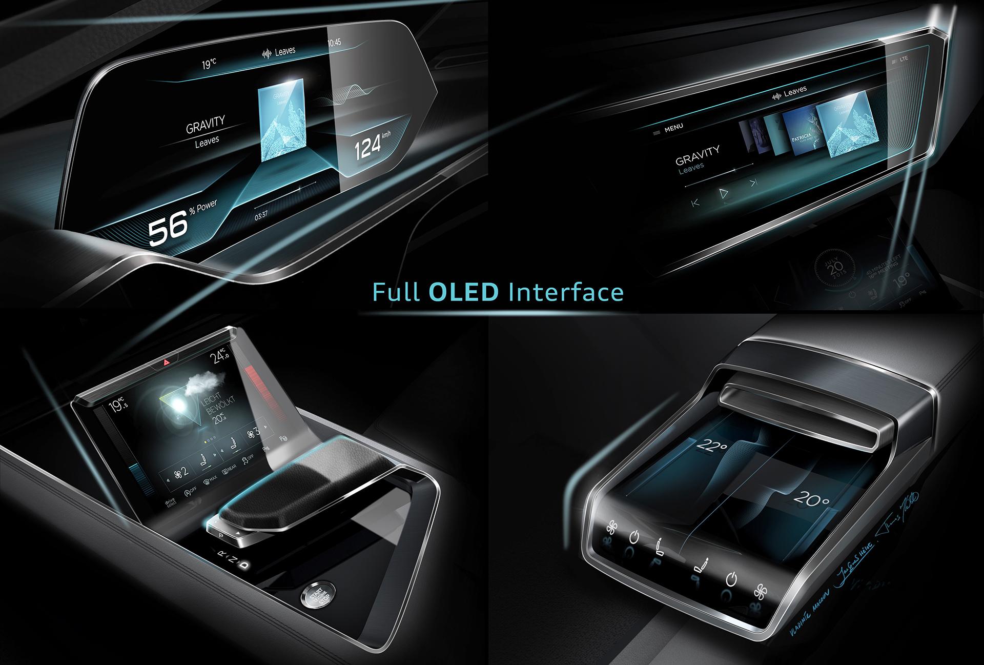 Audi e-tron quattro concept - 2016 - OLED