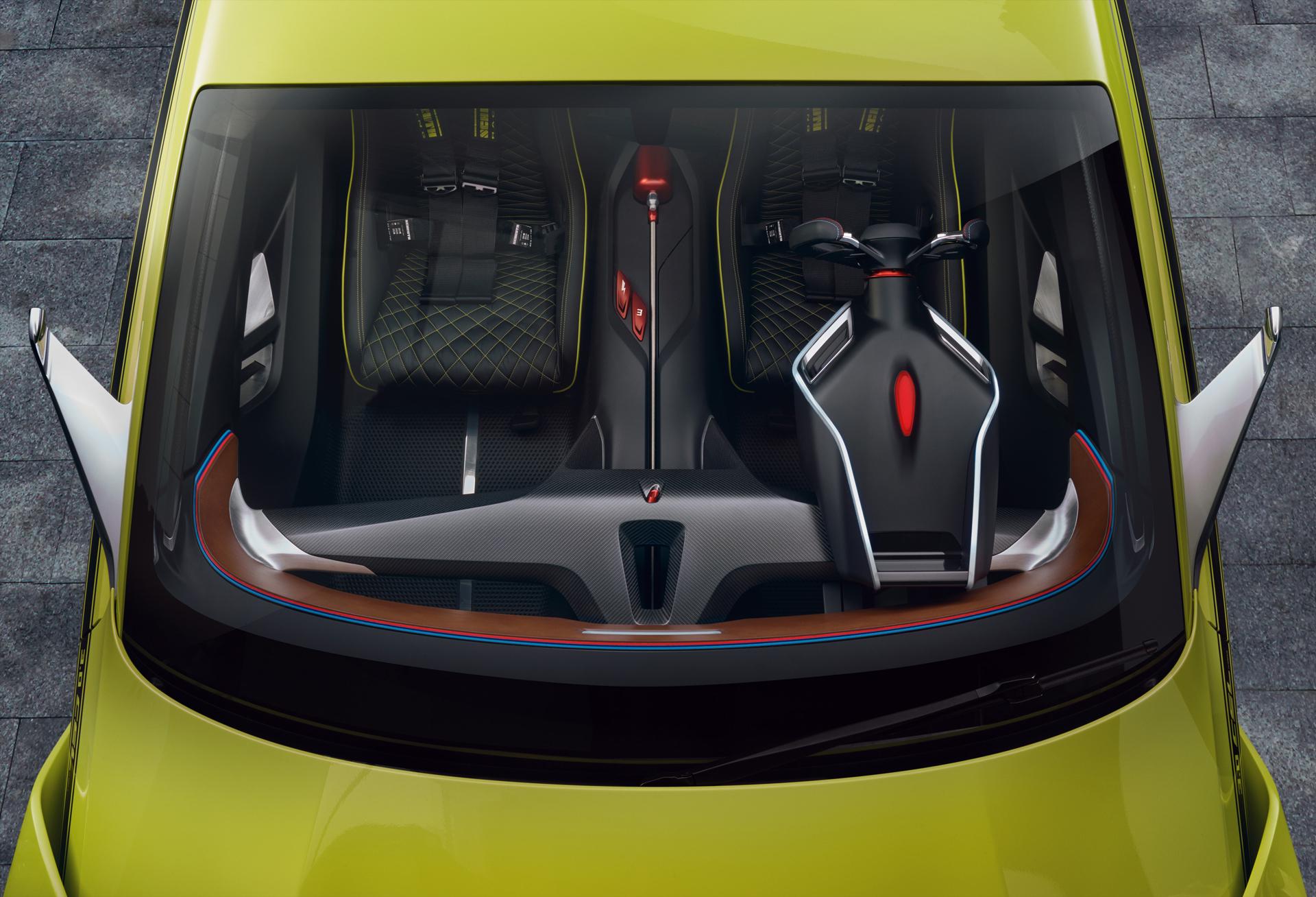 BMW 3.0 CSL Hommage - inside top / intérieur vue de haut