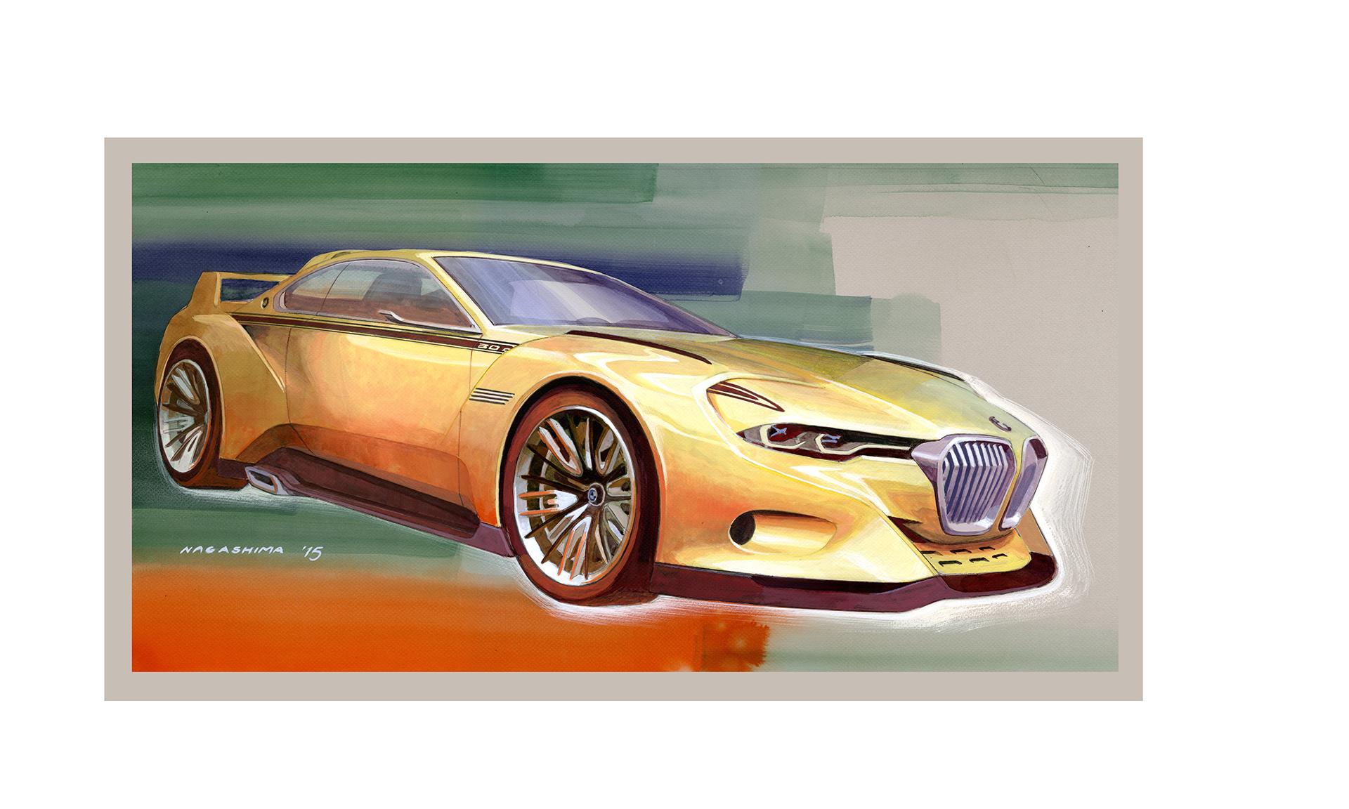 BMW 3.0 CSL Hommage - sketch artwork