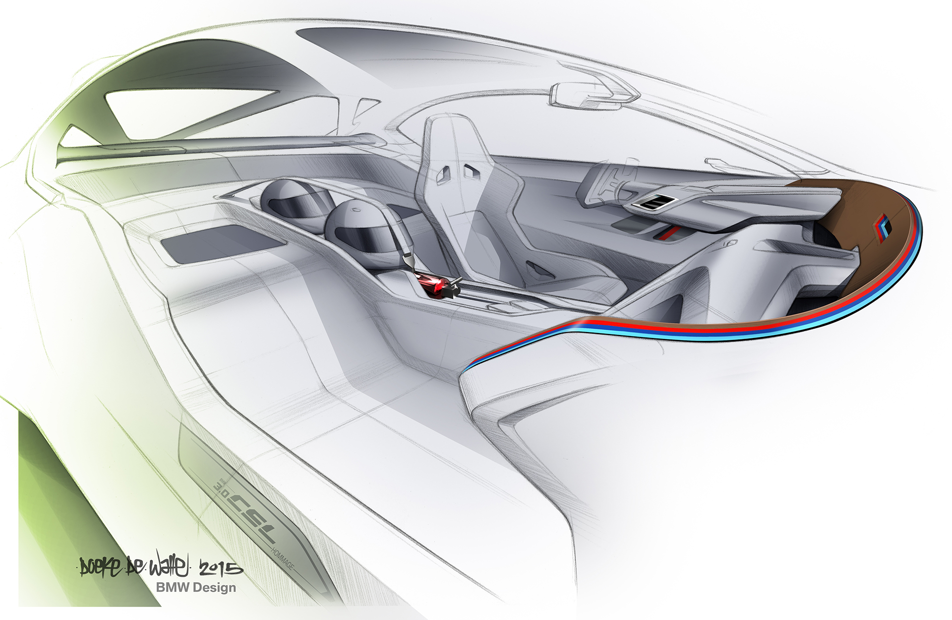 BMW 3.0 CSL Hommage - sketch interior