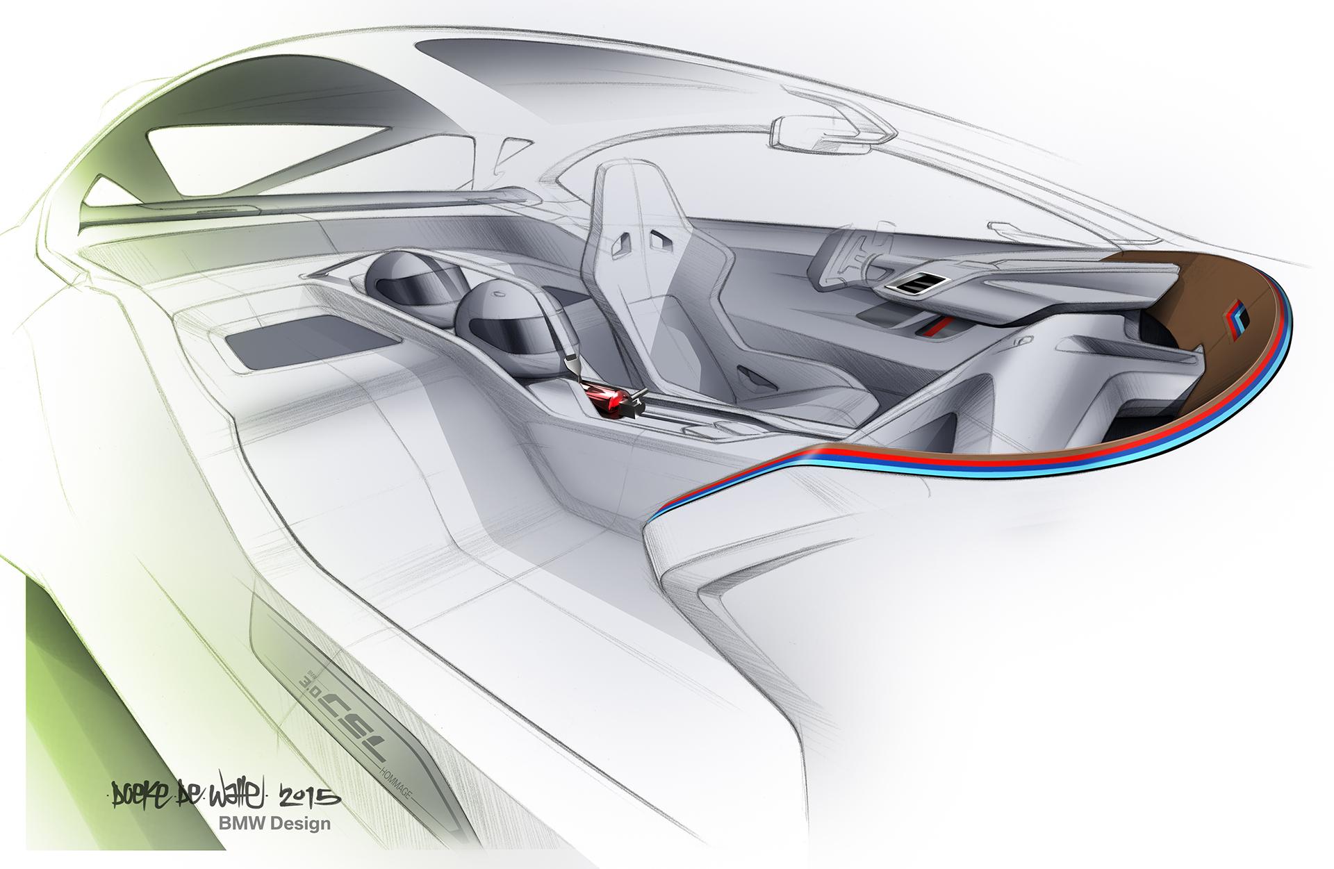 BMW 3.0 CSL Hommage - sketch interior