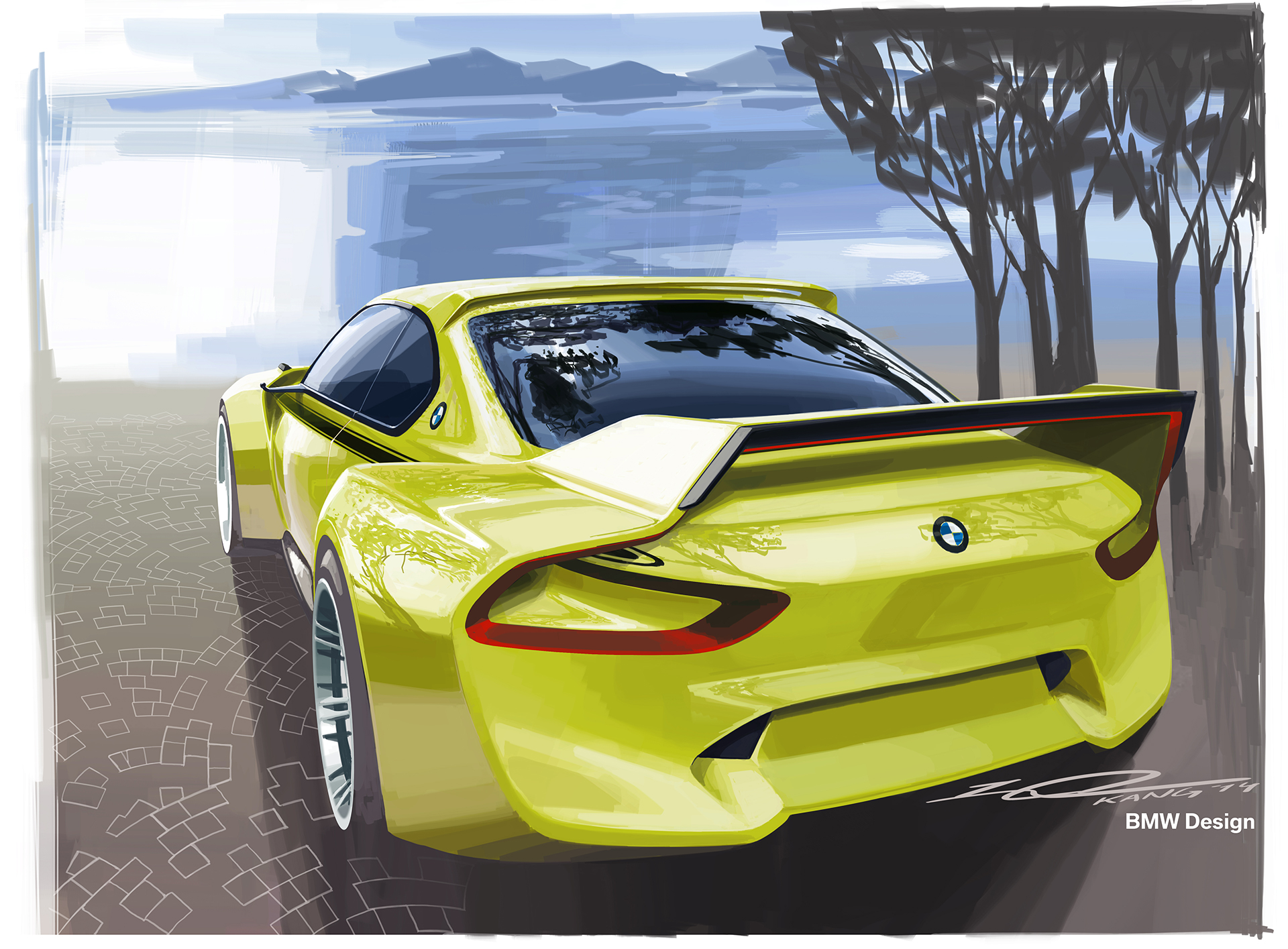 BMW 3.0 CSL Hommage - sketch rear
