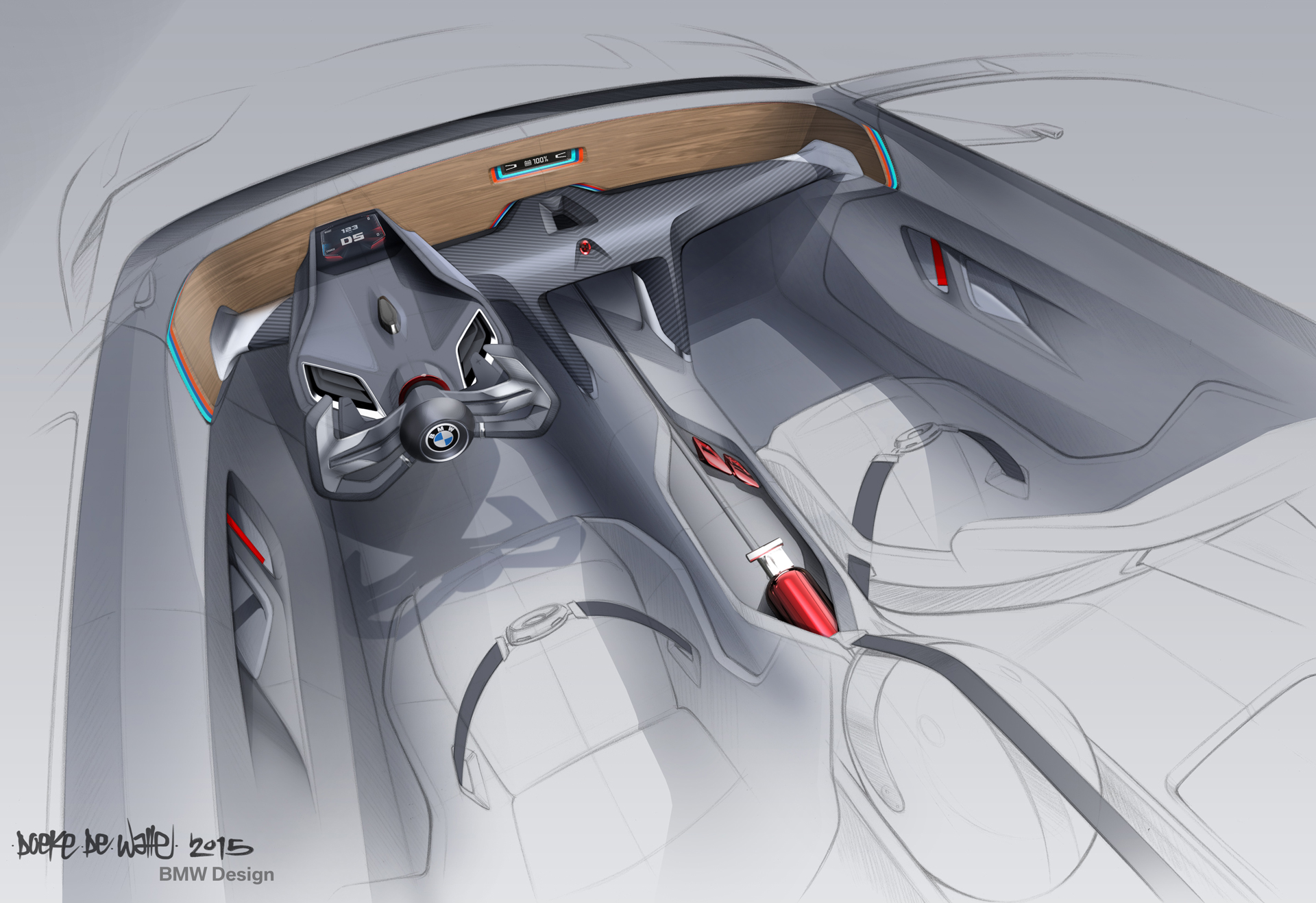 BMW 3.0 CSL Hommage - sketch inside