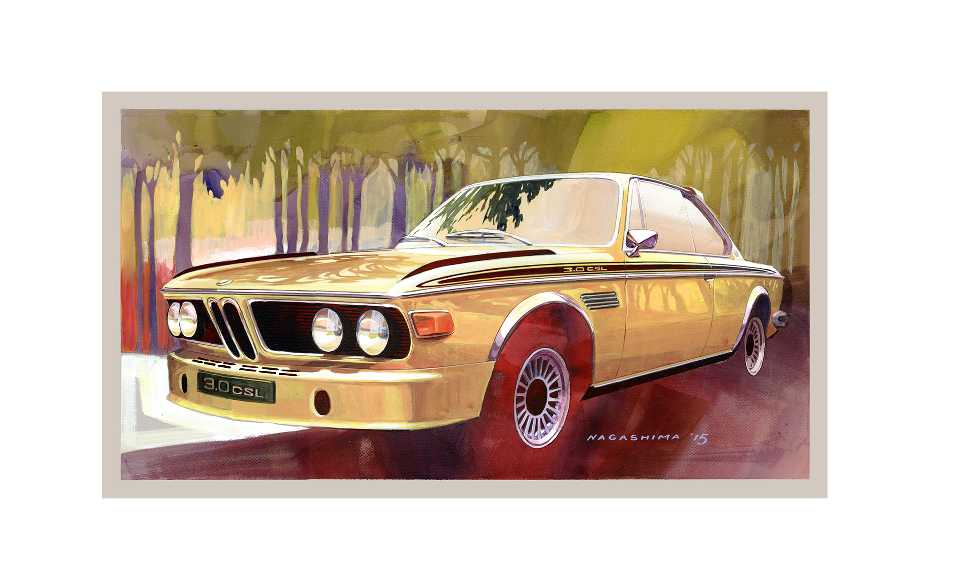 BMW 3.0 CS - artwork