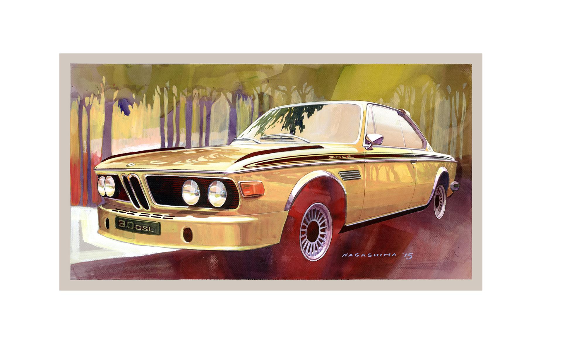 BMW 3.0 CS - artwork