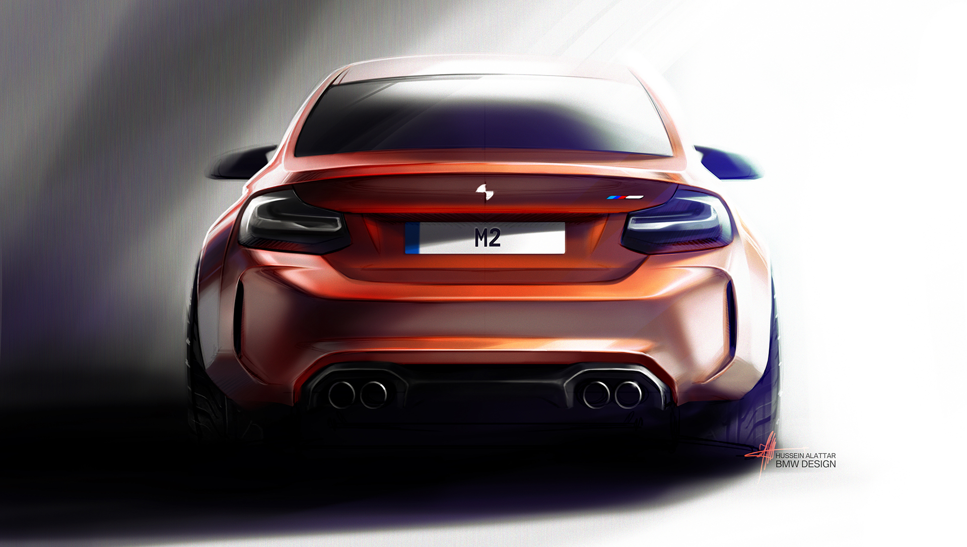 BMW M2 - 2016 - rear design sketch