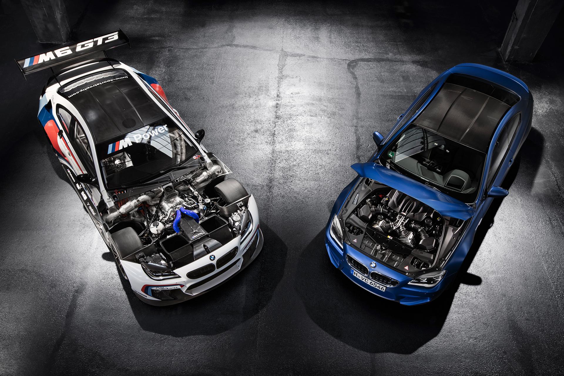 BMW M6 GT3 - 2016 - front / avant - engine  moteur - 2015 BMW M6