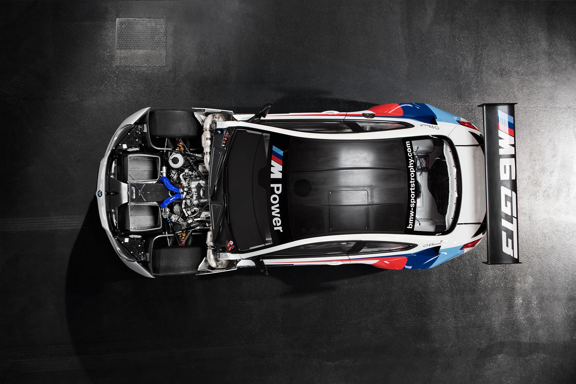 BMW M6 GT3 - 2016 - top / toit - engine / moteur