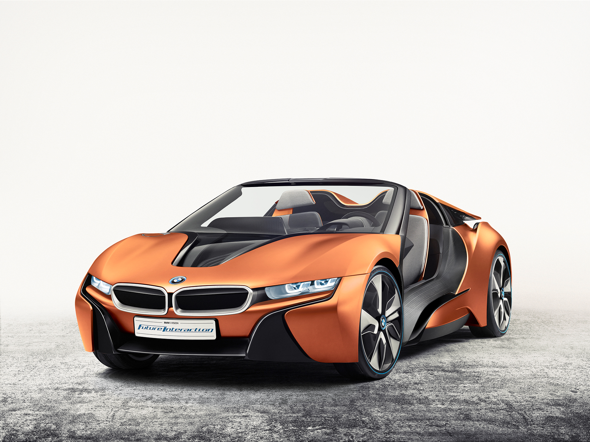 BMW i Vision Future Interaction – Concept Car - CES 2016 - front side-face / profil avant
