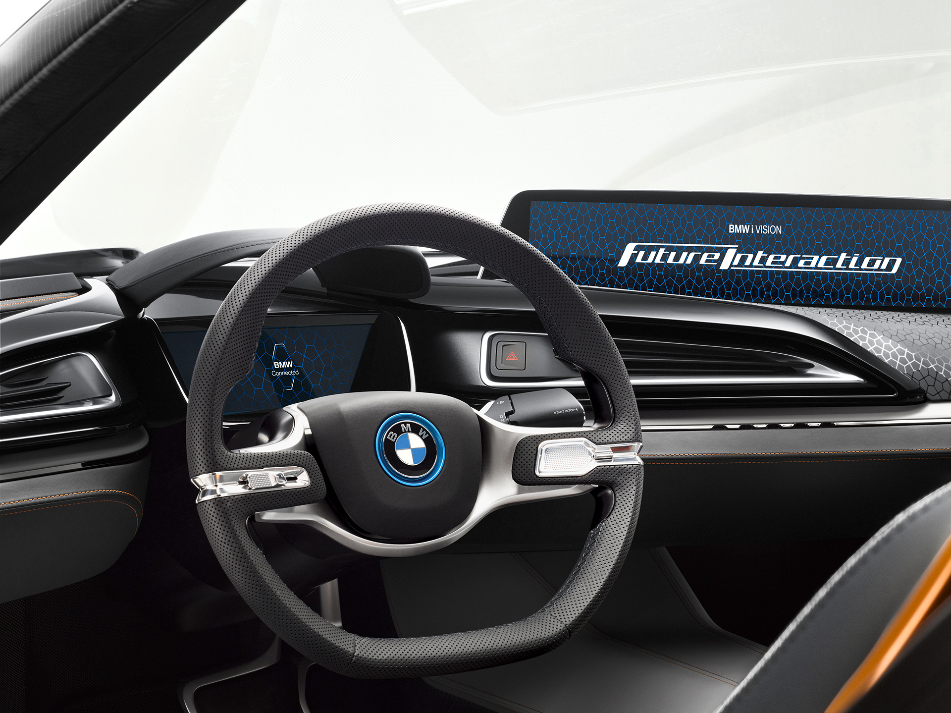 BMW i Vision Future Interaction – Concept Car - CES 2016 - drive wheel / volant