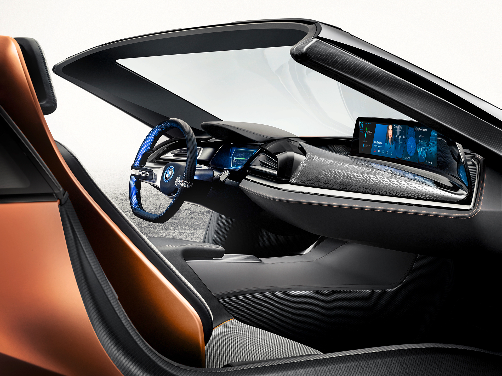 bmw i vision future interaction concept au ces sur base i8. Black Bedroom Furniture Sets. Home Design Ideas