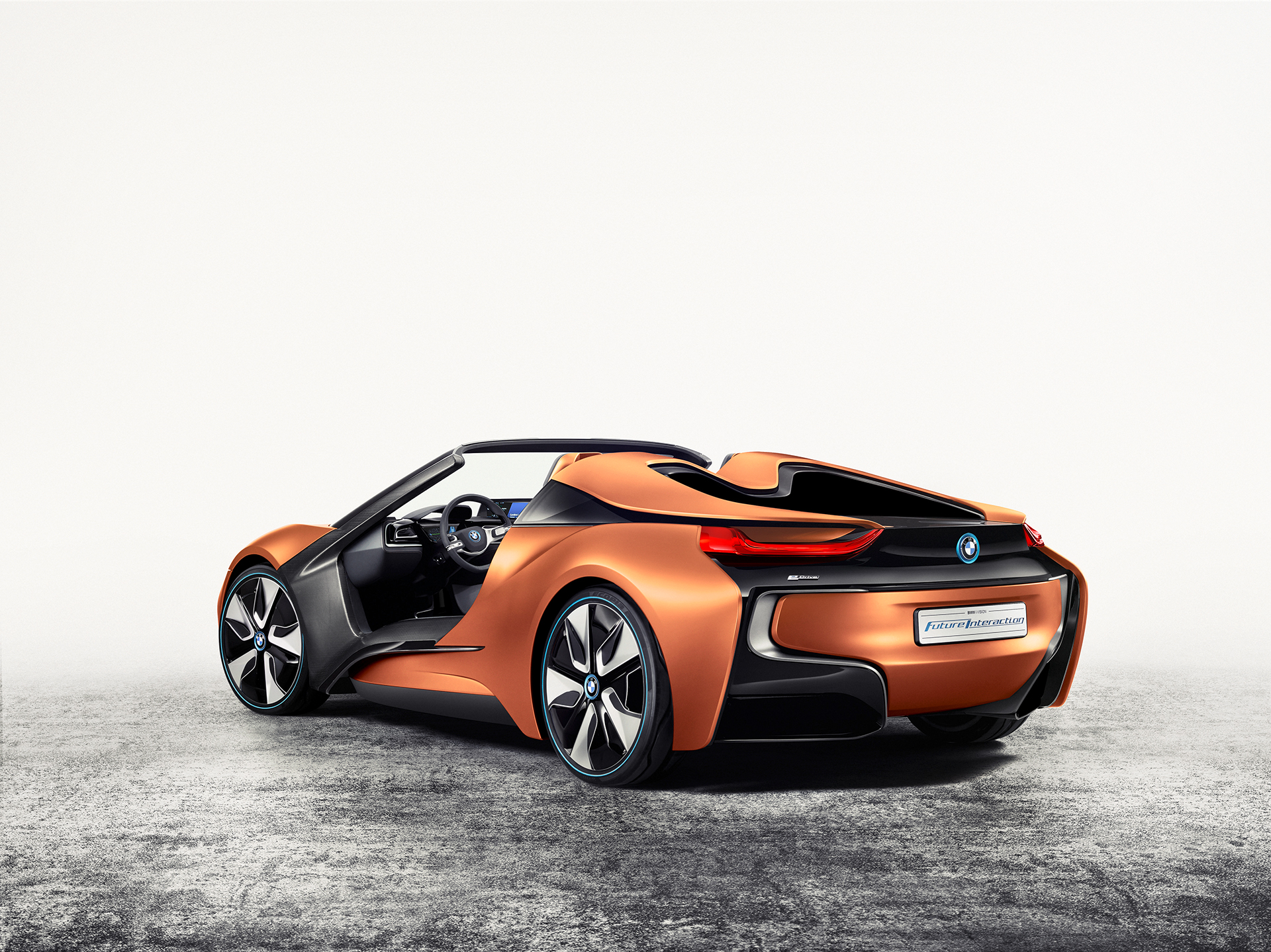 BMW i Vision Future Interaction – Concept Car - CES 2016 - rear side-face / profil arrière