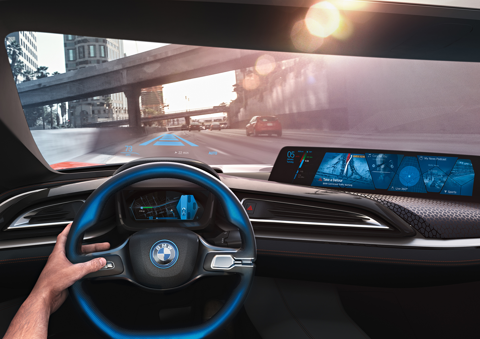 BMW i Vision Future Interaction – Concept Car - CES 2016 - dashboard vision