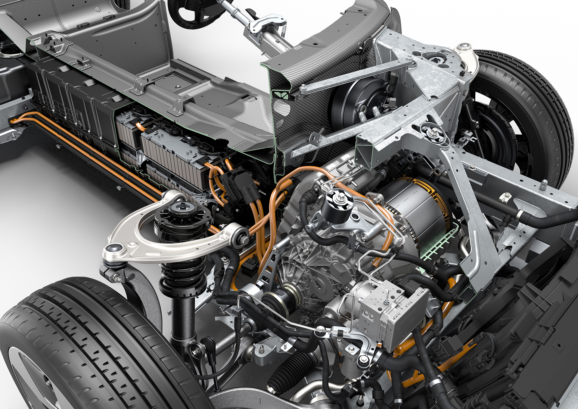 BMW i8 - inside powertrain electric