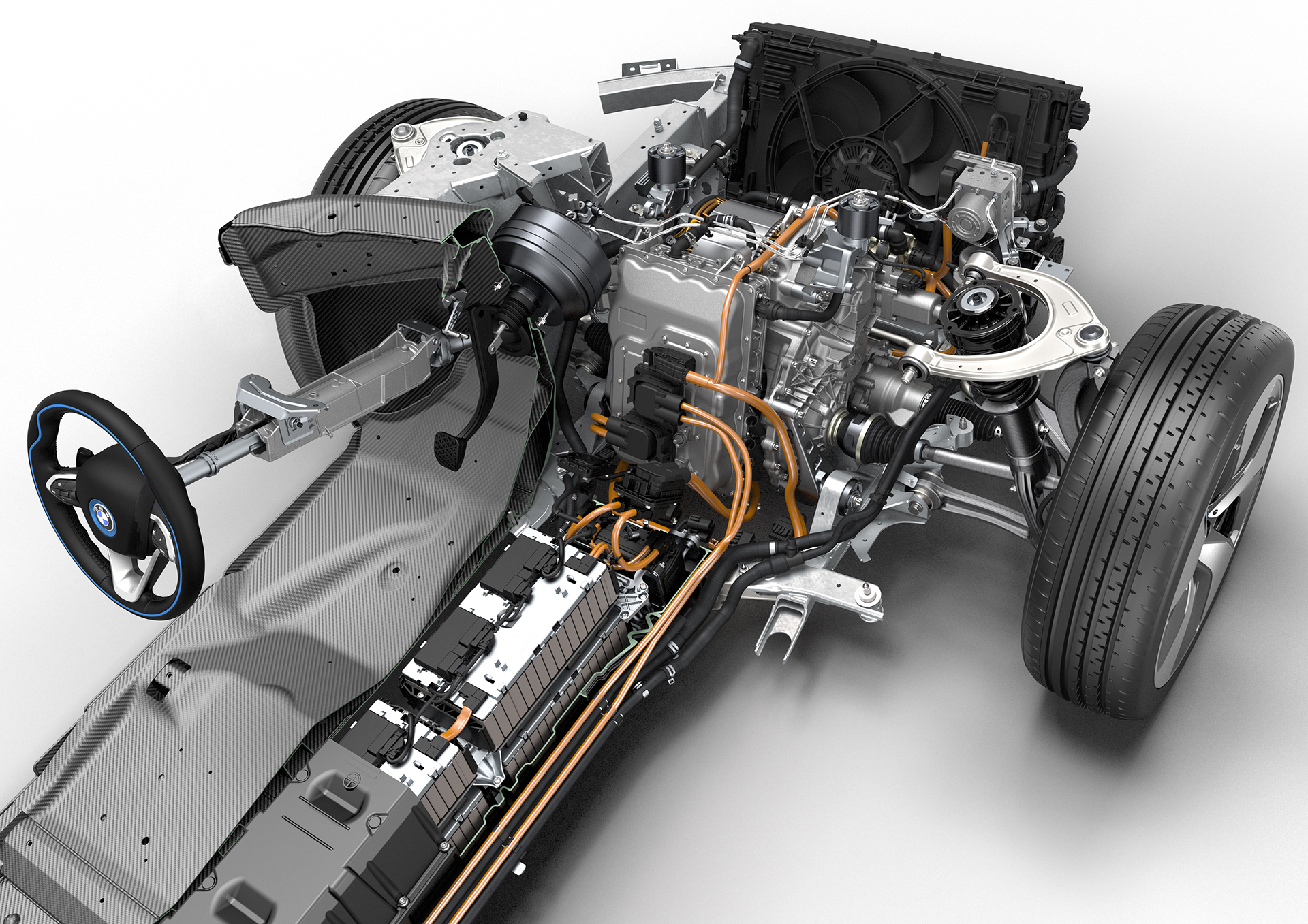 BMW i8 - inside powertrain
