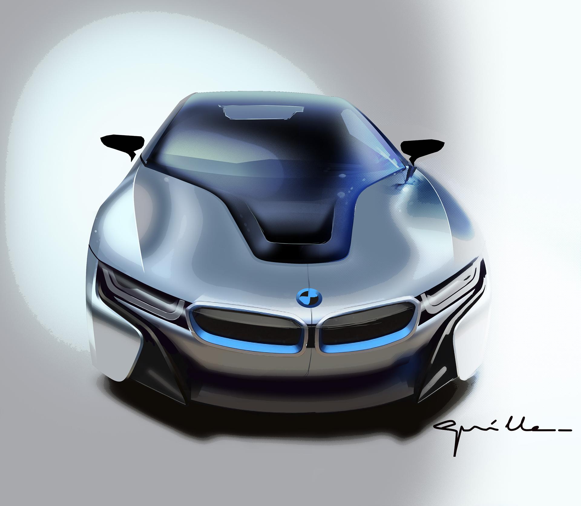 BMW i8 - sketch - front / avant