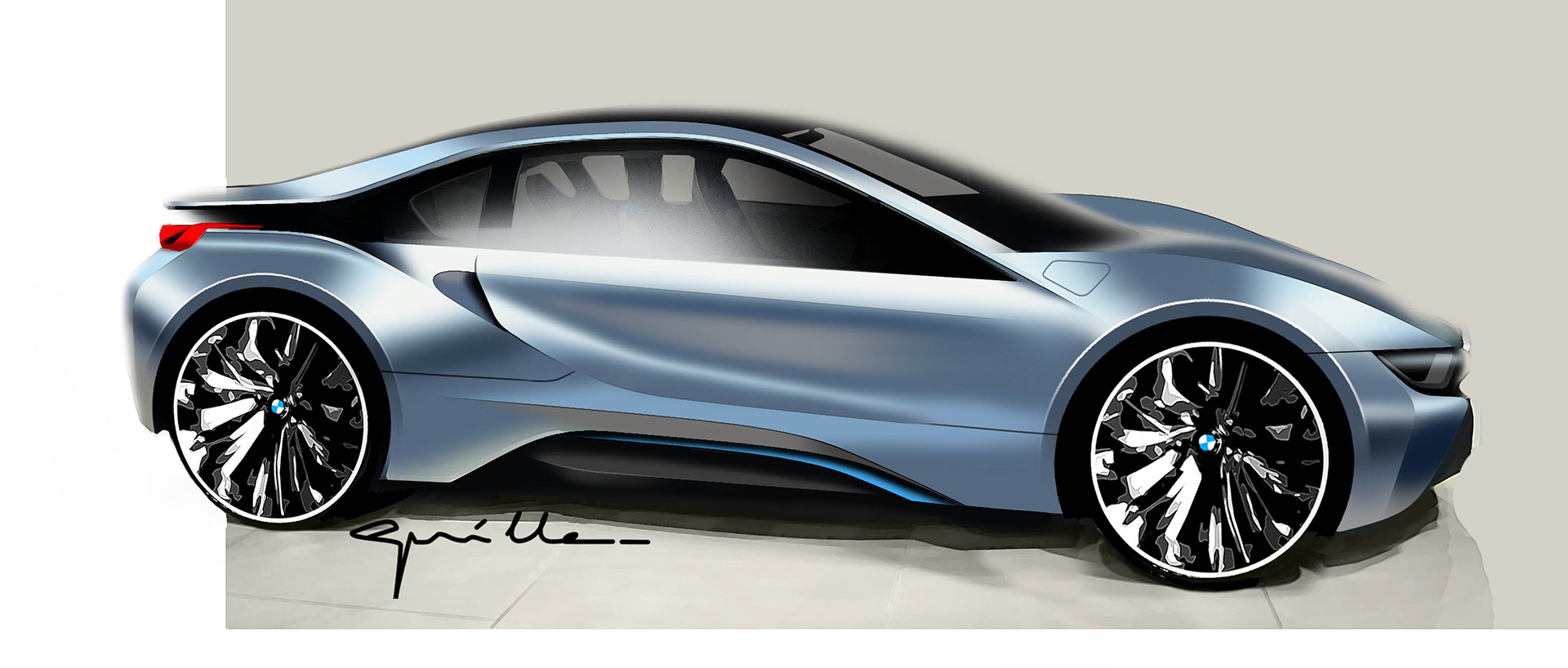 BMW i8 - sketch - exterior / extérieur
