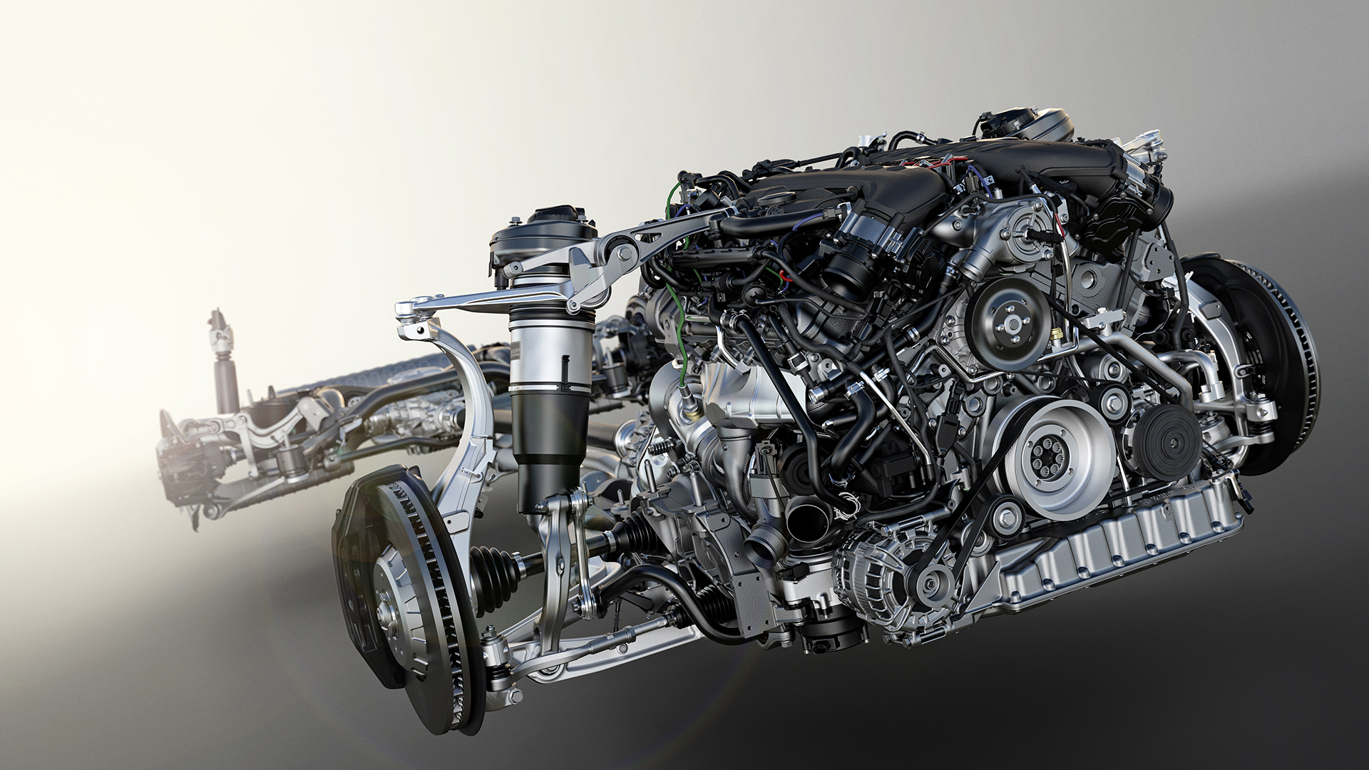 Bentley Bentayga - powertrain engine