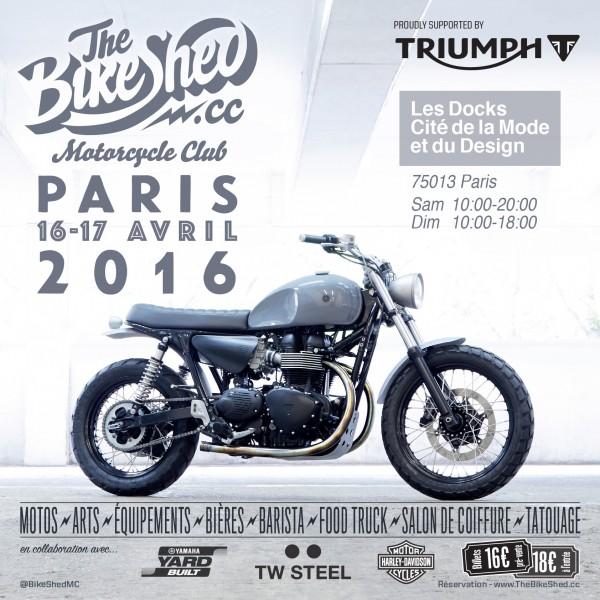 Bike Shed - Paris - 2016 - poster