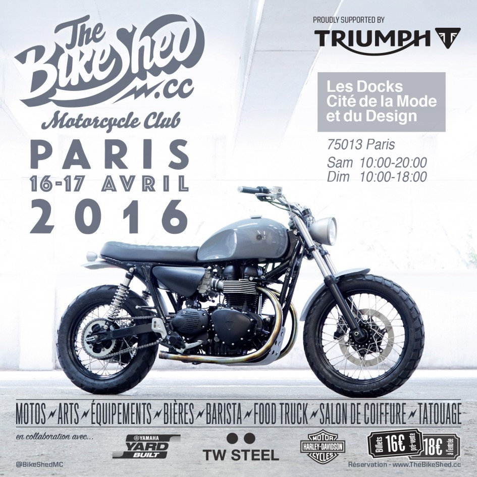 Bike Shed - Paris - 2016 - poster