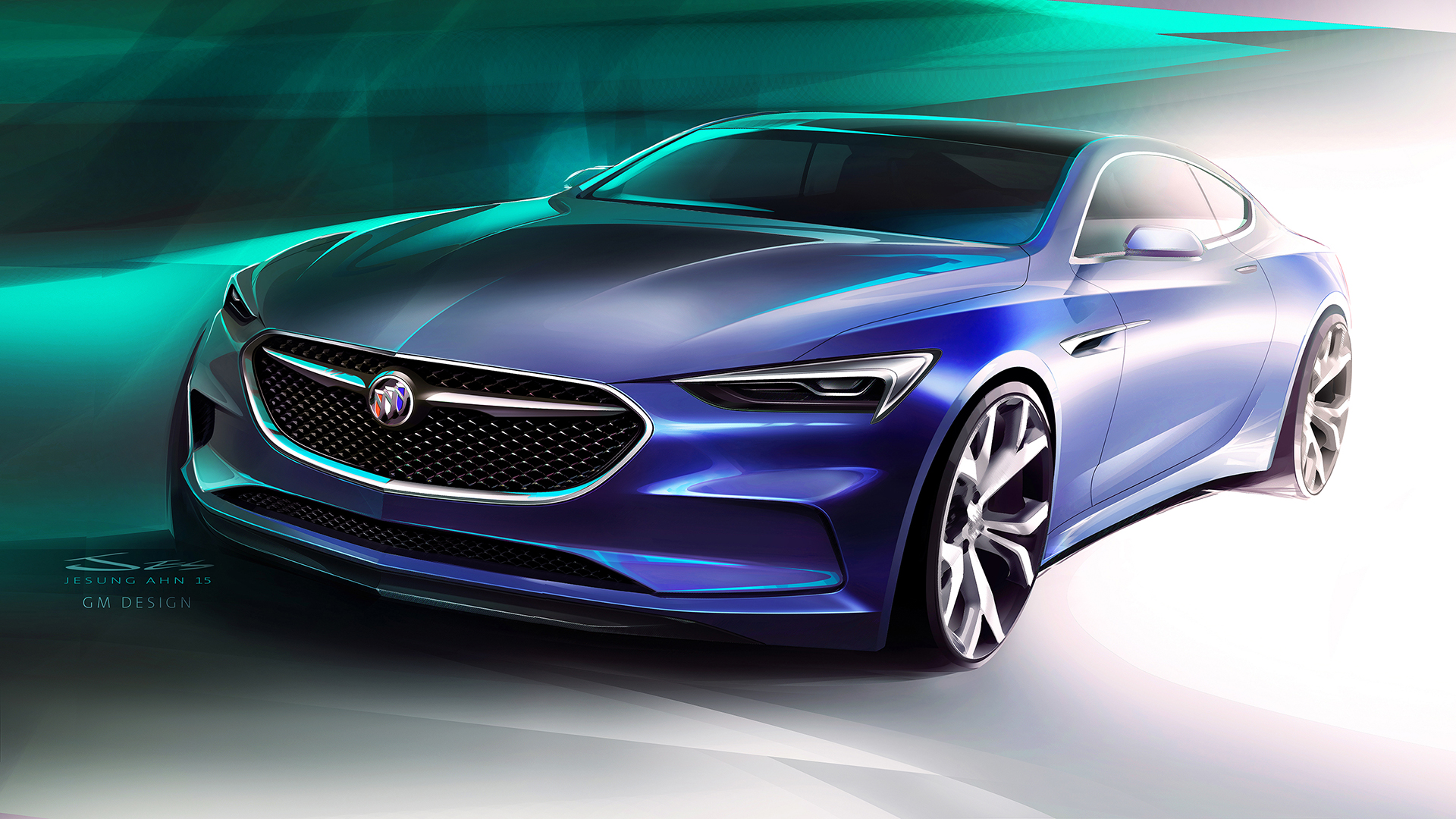 Buick Avista concept - 2016 - sketch design - front / avant - General Motors