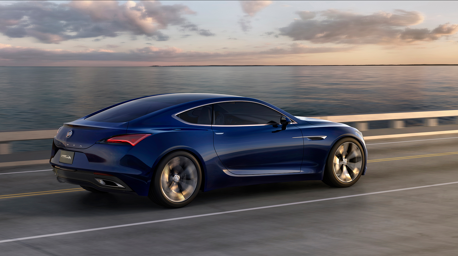 Buick Avista concept - 2016 - rear side-face / profil arrière - General Motors