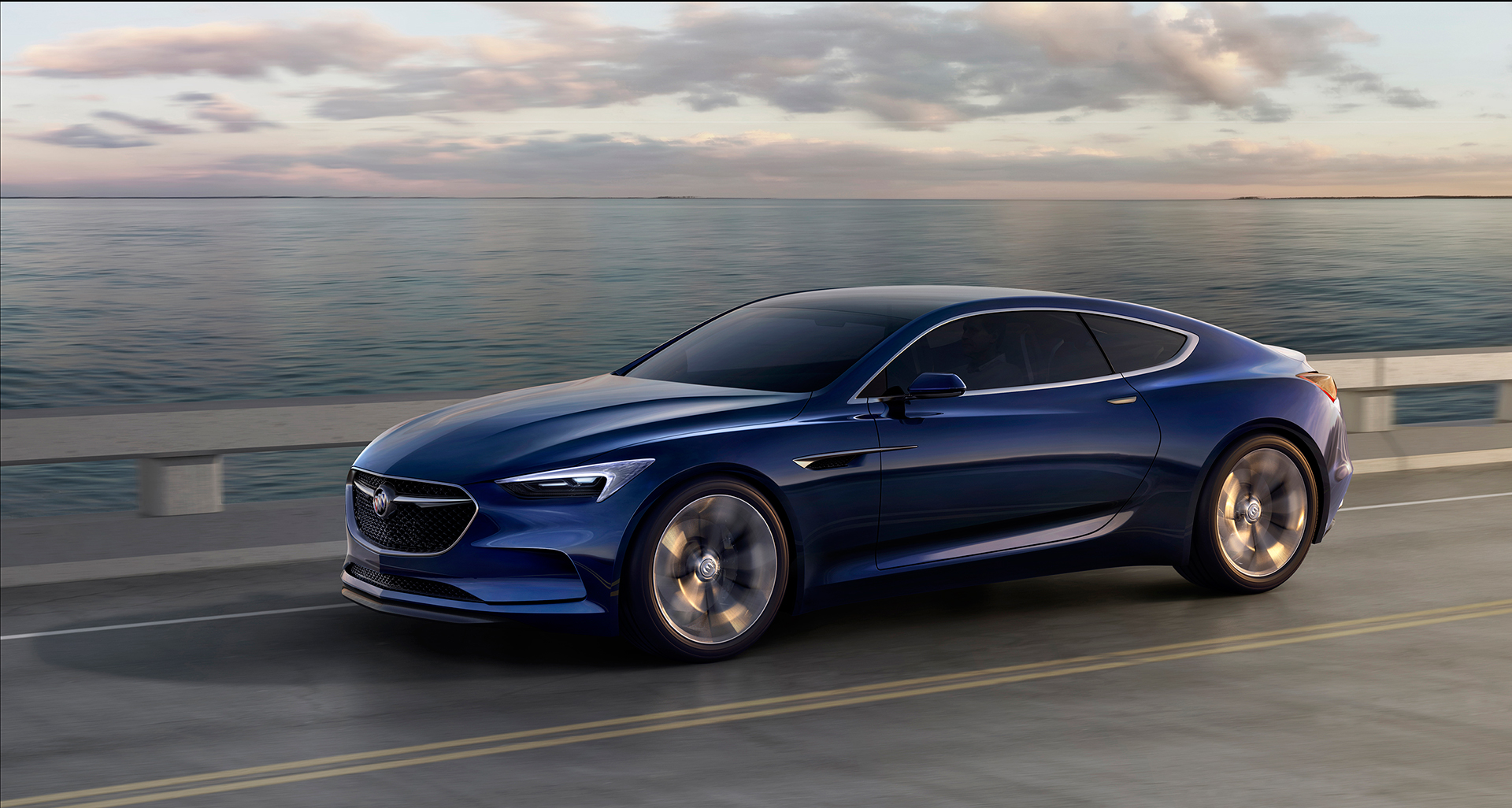 Buick Avista concept - 2016 - front side-face / profil avant - General Motors
