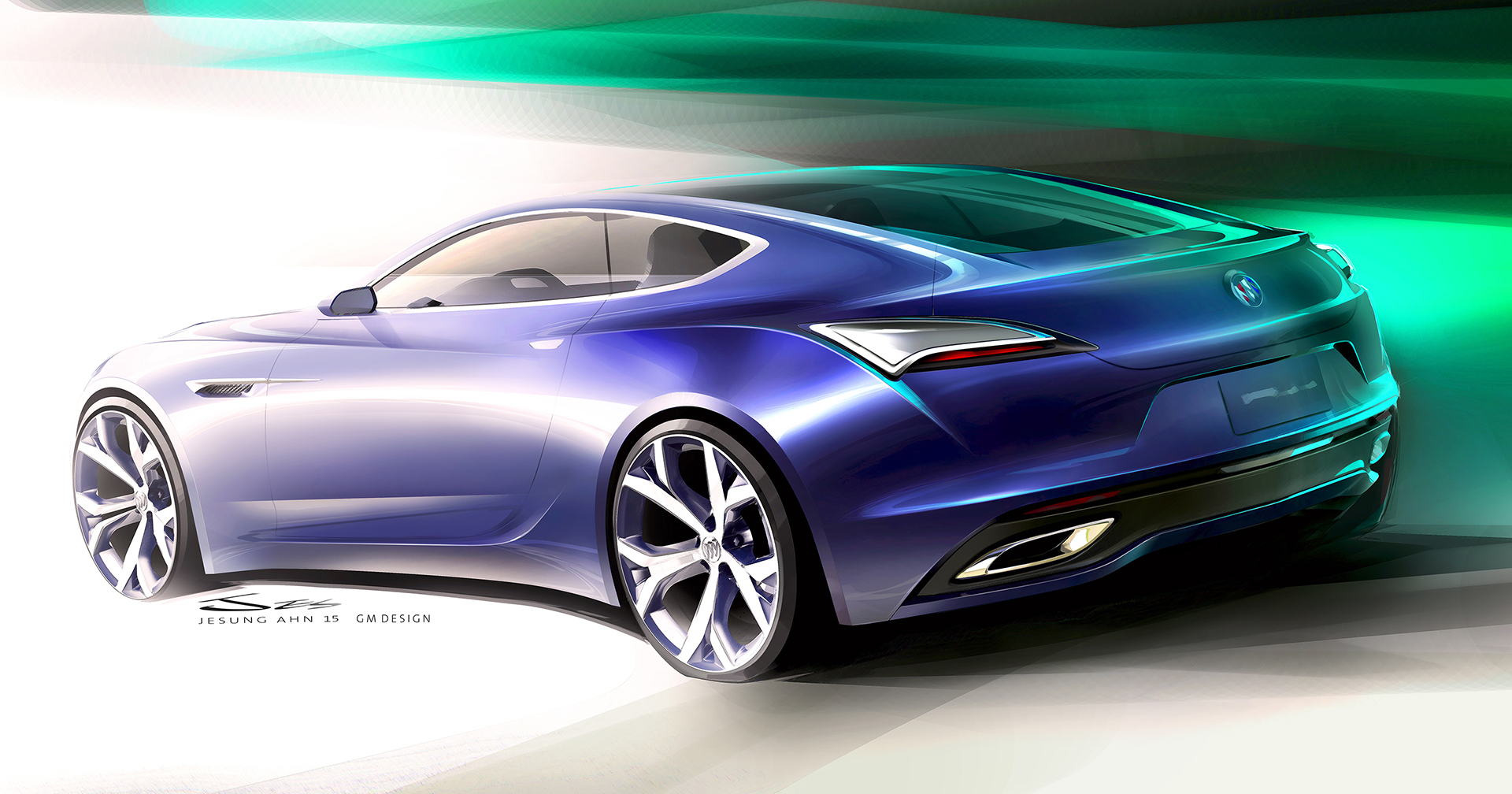 Buick Avista concept - 2016 - sketch design - rear / arrière - General Motors