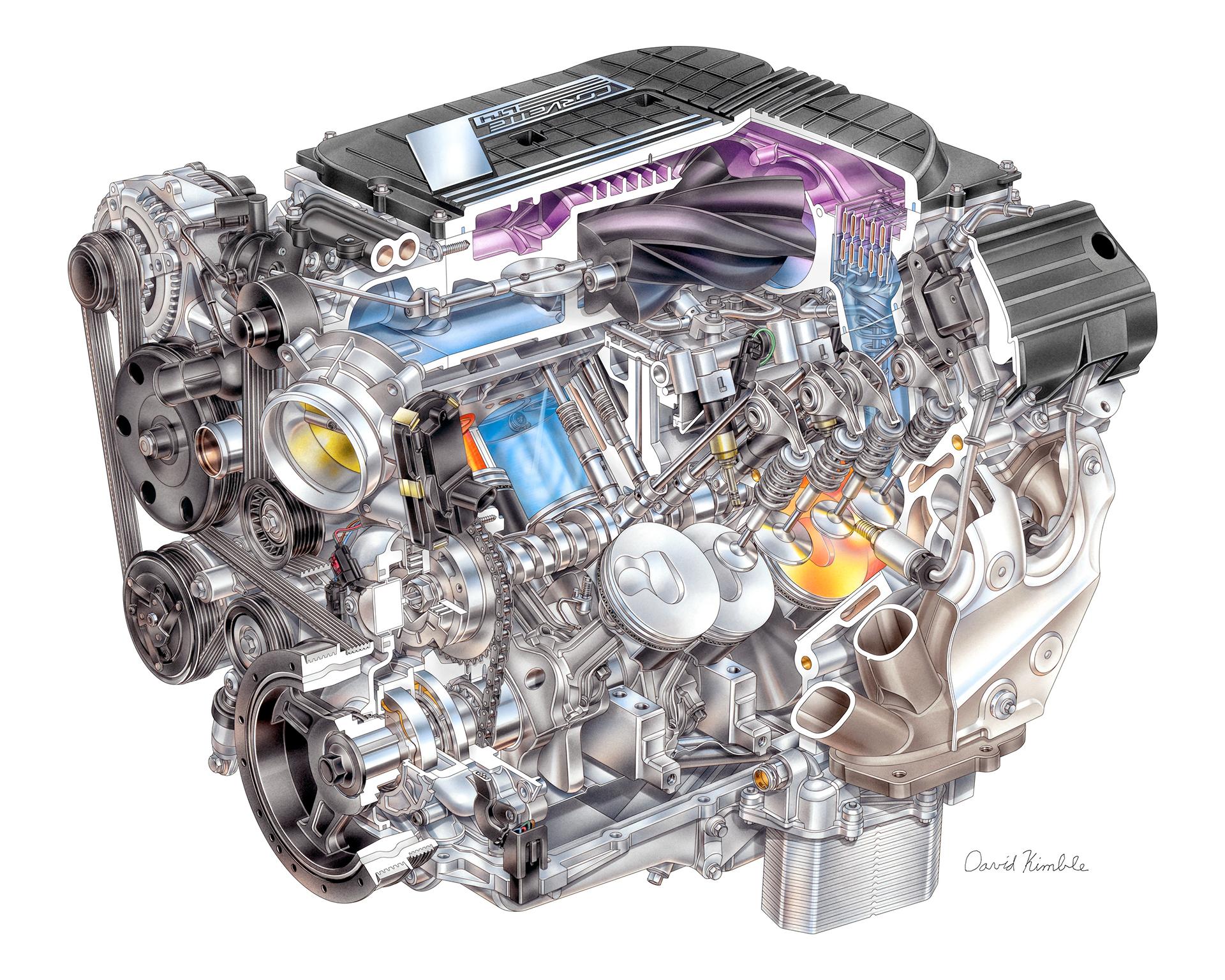 Chevrolet Corvette Z06 - LT4 supercharged 6.2L V-8 - General Motors
