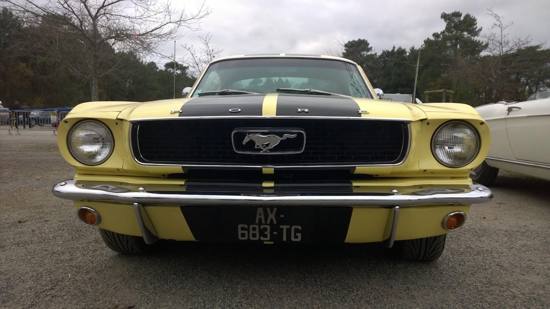 DM - photo - 1960s Mustang - avant / front - Ouest Motors Festival 2015 Lorient