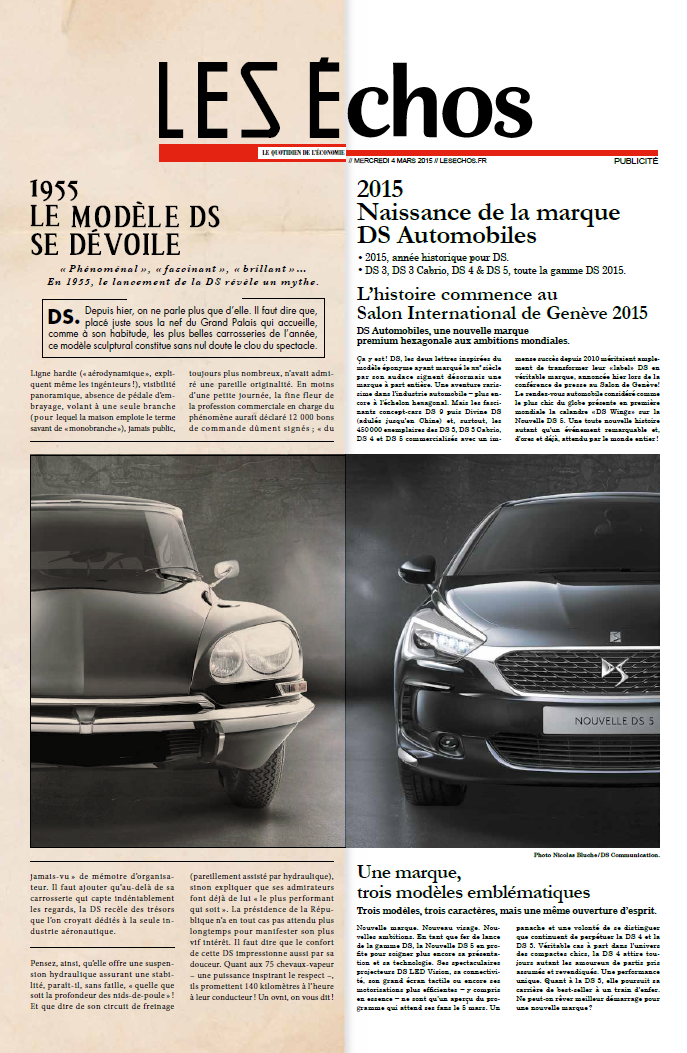 LesEchos featuring DS Automobiles