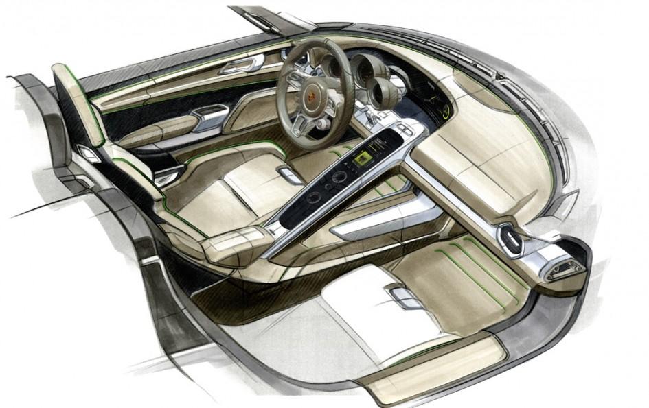 Dessin intérieur Porsche 918 Spyder