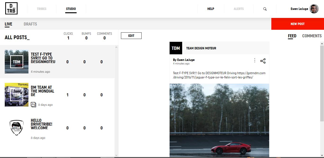 DriveTrive - studio page - Team DESIGNMOTEUR